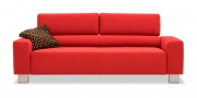 STRATOS - 2,5 Platz Sofa in rotem Alcantara