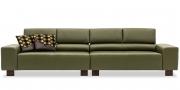STRATOS - 2 x 2 Platz Sofas in Leder Prescott Birch