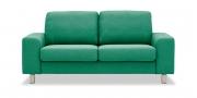 TERRA - 2 Platz Sofa in grün meliertem Stoff