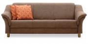 TURIN - 3 Platz Sofa in Mikrofaser Like Suede braun