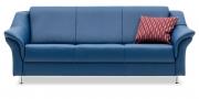 TURIN - 3 Platz Sofa in Kunstleder Sotega petrol