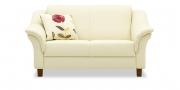 TURIN - Rhombus 2 Platz Sofa im Leder Prescott Soul White