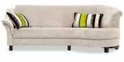 TURIN - 2 Platz Sofa mit Rhombus in beigem Stoff Mirage von S & V