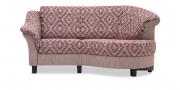 TURIN - 2 Platz Sofa mit Rhombus in Stoff S&V Magic Style rauten dessin rot beige
