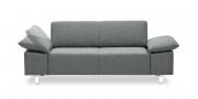 VENTANA - 2 Platz Sofa in grau-meliertem Stoff