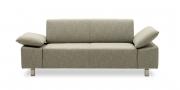 VENTANA - 2 Platz Sofa in grau-beige meliertem Stoff