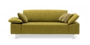 VENTANA - 2 Platz Sofa im Stoff Höpke Helmond grün