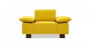 VENTANA - Sessel im gelben Stoff von Sonnhaus Villena curry