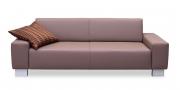 VENTO - 2,5 Platz Sofa in grau-beigem Leder