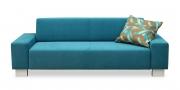 VENTO - 2,5 Platz Sofa in türkisfarbenem Stoff