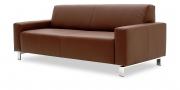 VENTO mit Armlehne Amica - 2,5 Platz Sofa in Leder Classic mustangbraun