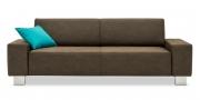 VENTO - 2,5 Platz Sofa im Stoff HF Buffalo chocolate