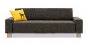 VENTO - 2,5 Platz Sofa in schwarz-grau meliertem Stoff