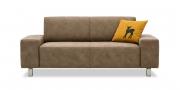 VENTO - 2 Platz Sofa im Stoff Sonnhaus Vintage Style Dallas braun