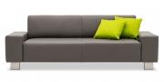 VENTO - 2,5 Platz Sofa in Leder Prescott grau