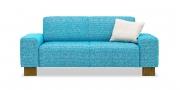 VENTO - 2 Platz Sofa im Stoff Designers Guild Mavone Turquoise blau