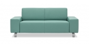 VENTO - 2 Platz Sofa in Leder mint