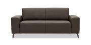 VENTO - 2 Platz Sofa mit Armlehnen Futura in dunkelbraunen Leder Dolomiti Brazil