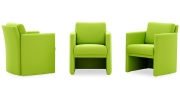 VISTA - Sessel in apfelgrünem Stoff