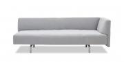 WAVE - 3 Platz Sofa mit Steckrücken in grauem Stoff