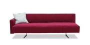 WAVE - 3 Platz Sofa mit Steckrücken und Steckarmlehne in Wolle rot