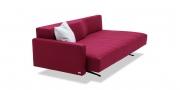 WAVE - 3 Platz Sofa mit Steckrücken und Steckarmlehne in Wollstoff rot