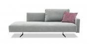 WAVE - 3 Platz Sofa in Mikrofaser Alcantara Armonia grau mit rosa Dekokissen