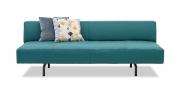 WAVE - 3 Platz Sofa in Leder Prescott blu petrol