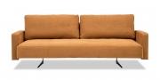 WAVE - 3 Platz Sofa mit Steckarmlehnen in Stoff S&V Saviba braun