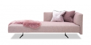 WAVE - Sofa als Chaiselongue in Stoff S&V Magic Relax rosa meliert