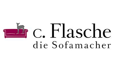 neues Firmenlogo von c. Flasche die Sofamacher