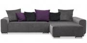 Sofa Miro mit Chromrollen als Sofafüße