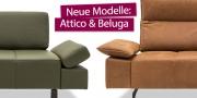 neue Modelle Attico und Beluga