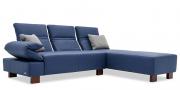 neues Modell Fugo als Ecklösung in Leder blau