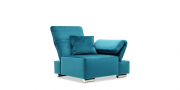 neues Modell Fugo als Sessel in Samtstoff türkis