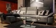 Sofa Belug in Alcantara grau