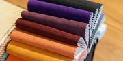 verschieden Farben der Alcantara-Kollektion
