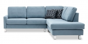 Sofa Salma in Alcantara Velvet Blue hellblau