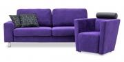Sofa Terra & Sessel Arthe in Alcantara Colorado Violet