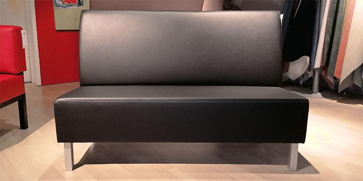 CF 100 - Bank 150 cm Kunstleder Sotega schwarz