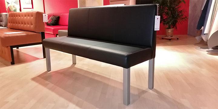 CF 800 - Bank 150 cm Kunstleder Sotega schwarz