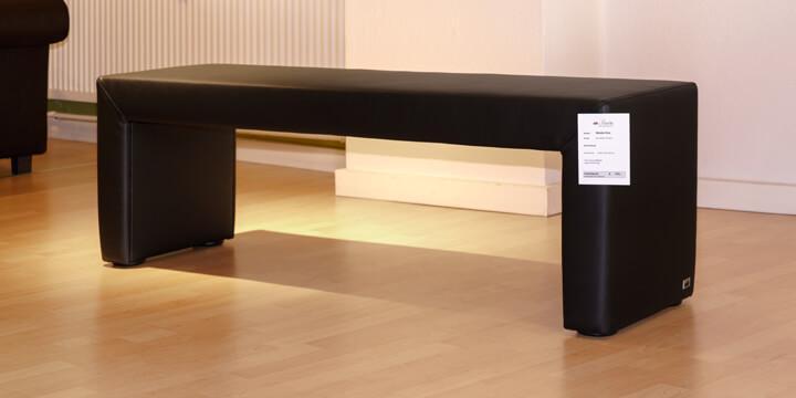 reduziertes Ausstellungsstück Bank Modul One in Kunstleder schwarz