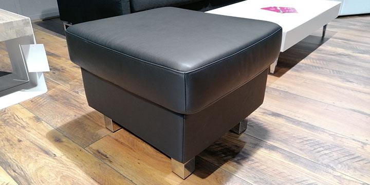 Kubus - Hocker Leder Napoli schwarz
