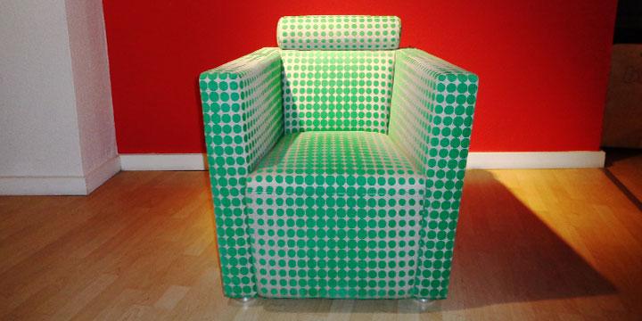 reduziertes Ausstellungsstück Sessel Arthe in Stoff Kirkby Design grün