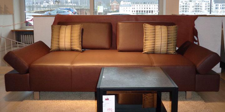 reduziertes Ausstellungsstück Sofa Attico in Leder Jumbo braun