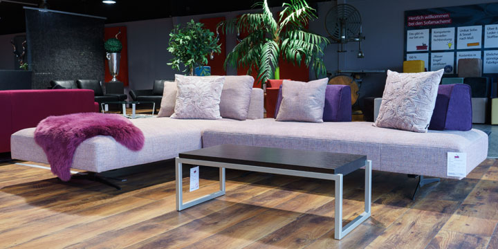 Wave - 3 Platz Sofa Stoff S&V Magic rosé