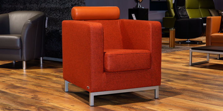 Caro - Sessel Wollstoff Orange