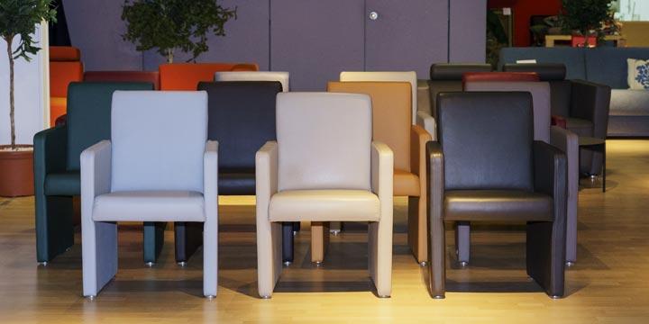 reduziertes Ausstellungsstücke Sessel Mono und Solo in Leder