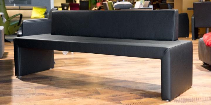 Modus 60 - Sitzbank, ca. 200 cm Kunstleder schwarz