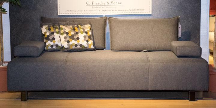 Alessia - 2,5 Platz Sofa inkl. 2 mobile Armlehnen Stoff Catania graphit